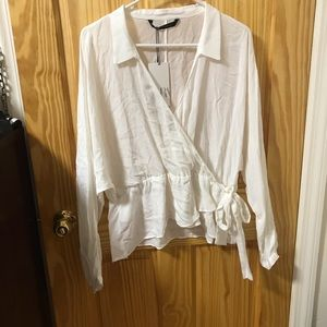 Zara white collar shirt